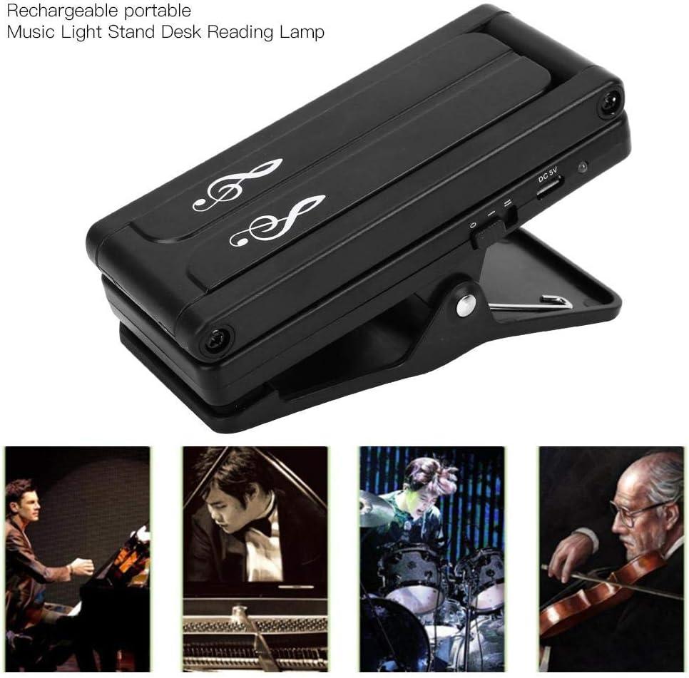 Bnineteenteam Music Stand Light L/ámpara de Soporte de m/úsica Recargable con Clip para Piano Luz LED Universal Compacto Port/átil