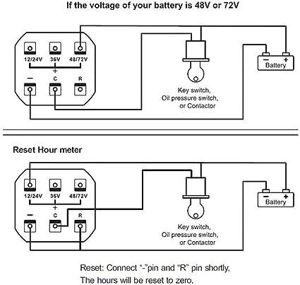 Led Digital Batterieanzeige Mit Betriebsstundenzähler Für 12 V 24 V 36 V 48 V 72 V Batterieanzeige Auto