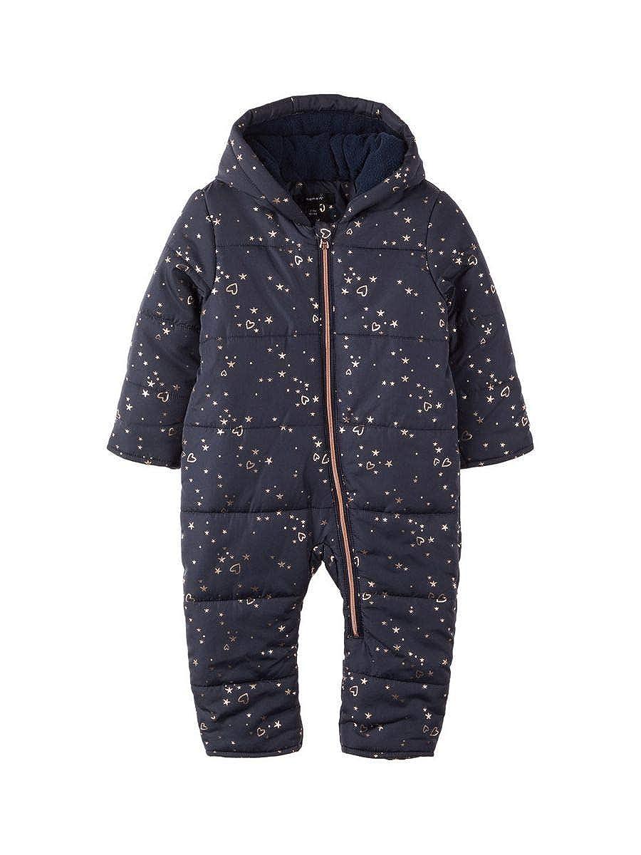 Overall mit Print in dunkelblau NAME IT Baby M/ädchen Schneeoverall Schneeanzug