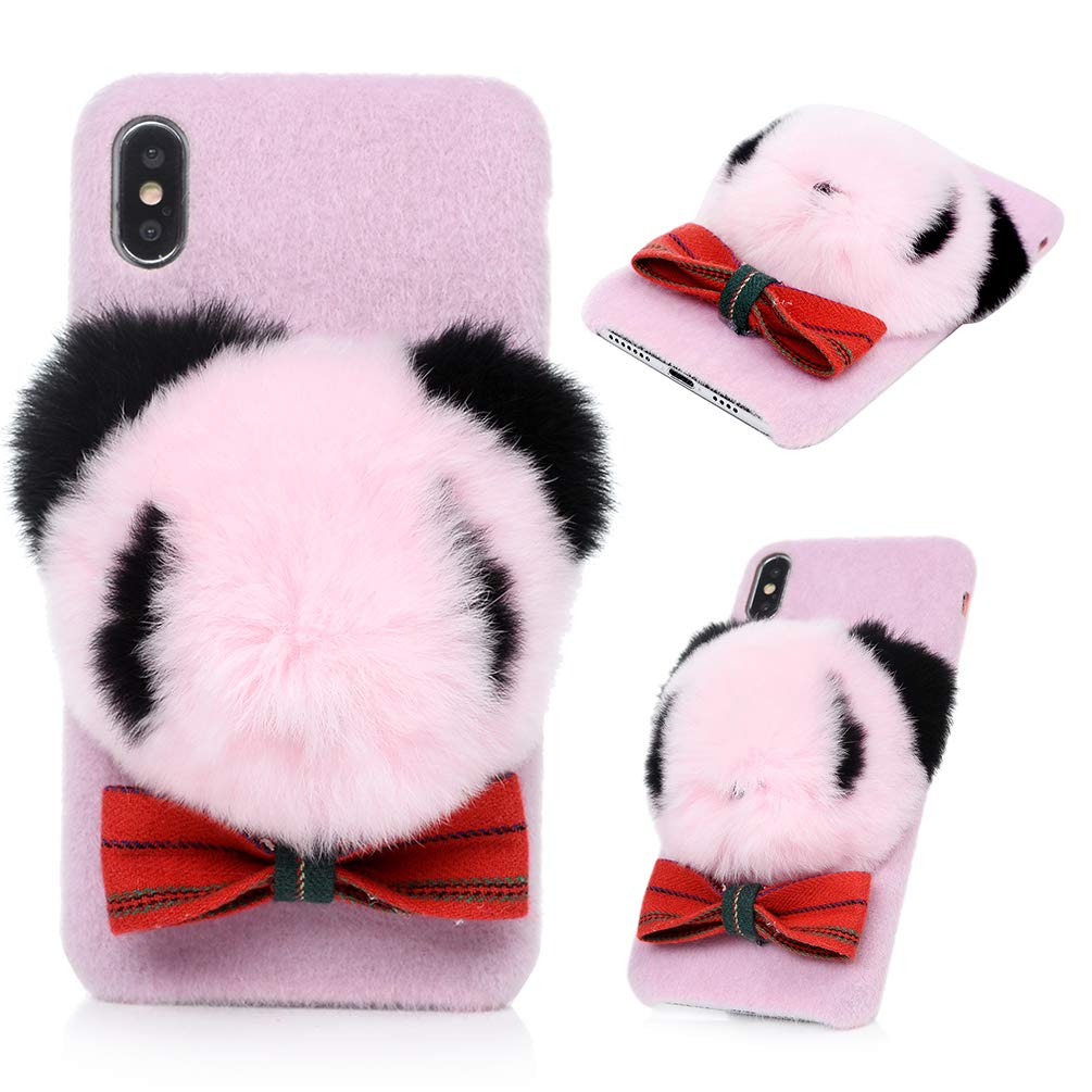 iPhone Xs Max Case, iPhone Xs Max Kawaii Cute Panda Winter Case Crystal Clear TPU Case Shockproof Flexible Soft TPU Rubber Bumper Silicone Gel Ultral Slim Fit Lightweight TPU Cover for iPhone Xs Max KASOS