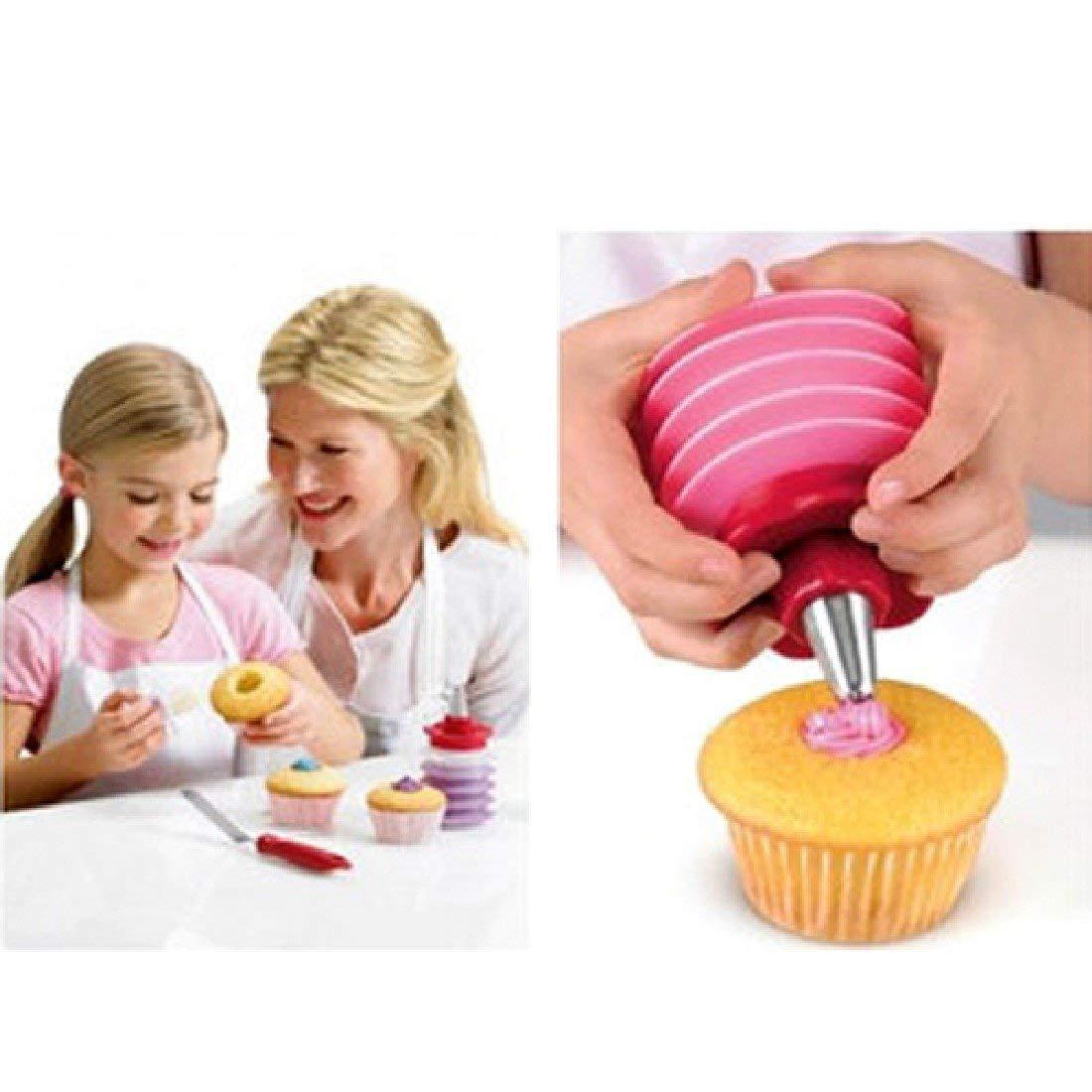 Ouken Fulldream 1pc Cake Corer Cutter Plunger Pastry Cupcake Decorating Divider Filler Model New