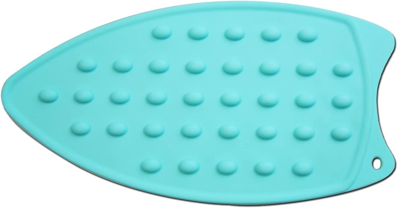 LeLehome Silicone Iron Rest Pad for Ironing Board Hot Resistant Mat-Teal