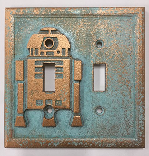 Sci-Collectables R2D2 Double Light Switch Cover (Aged Patina) ()