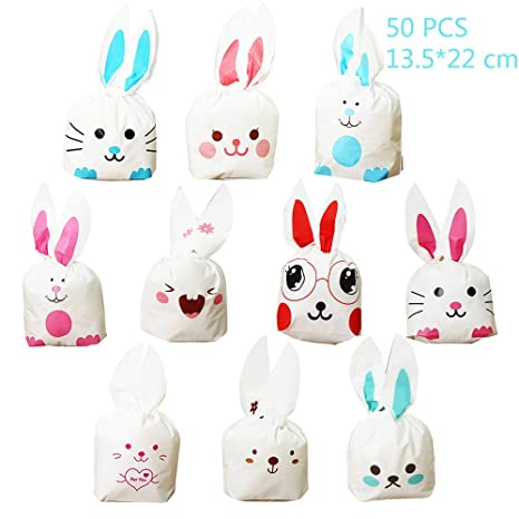 Jurxy 50 Piezas Bunny Bunny Candy Party Bolsa Bolsa Bolsas ...