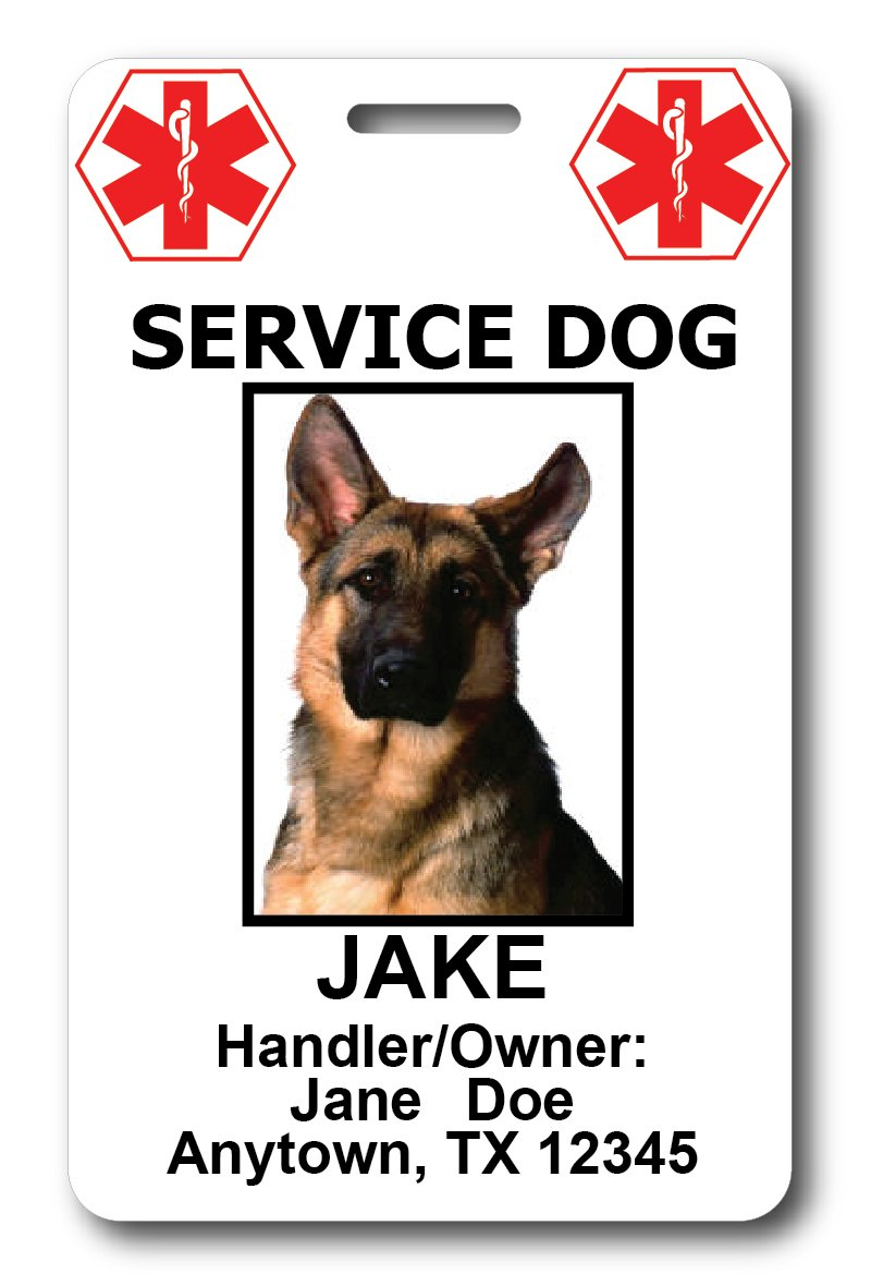 Custom Service Dog ID Cards