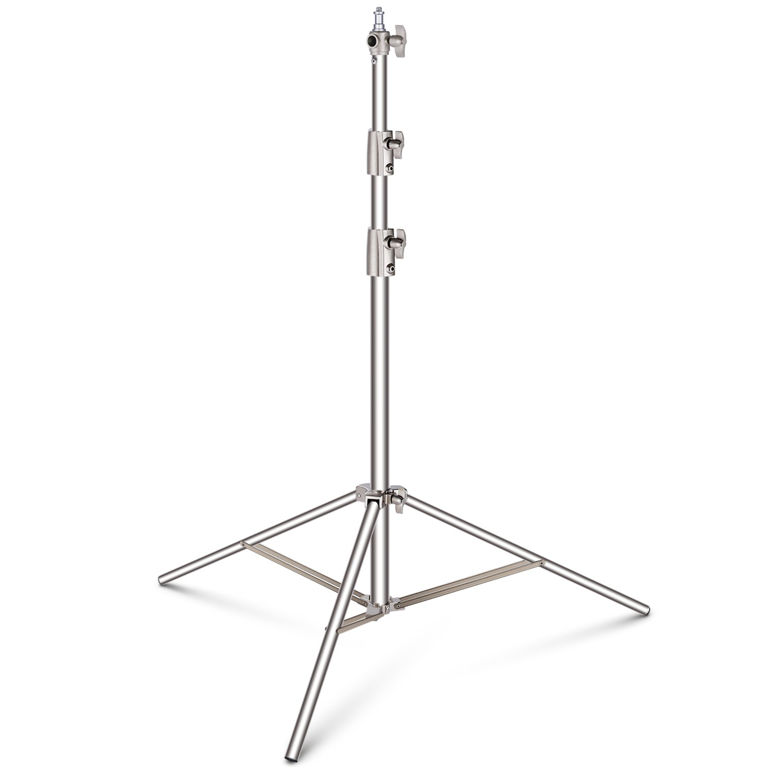 Neewer Stainless Steel Light Stand 102 inches/260 centimeters Heavy Duty with 1/4-inch to 3/8-inch Universal Adapter for Studio Softbox, Monolight and Other Photographic Equipment by Neewer