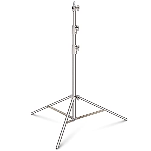Neewer Heavy Duty 39-114 inches/99-290 centimeters Adjustable Light Stand with 1/4-inch to 3/8-inch Universal Adapter for Studio Softbox, Monolight and Other Photographic Equipment, Stainless Steel