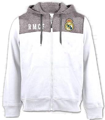 Sudadera con capucha Oficial Real Madrid CF - Niño Junior - Blanco ...
