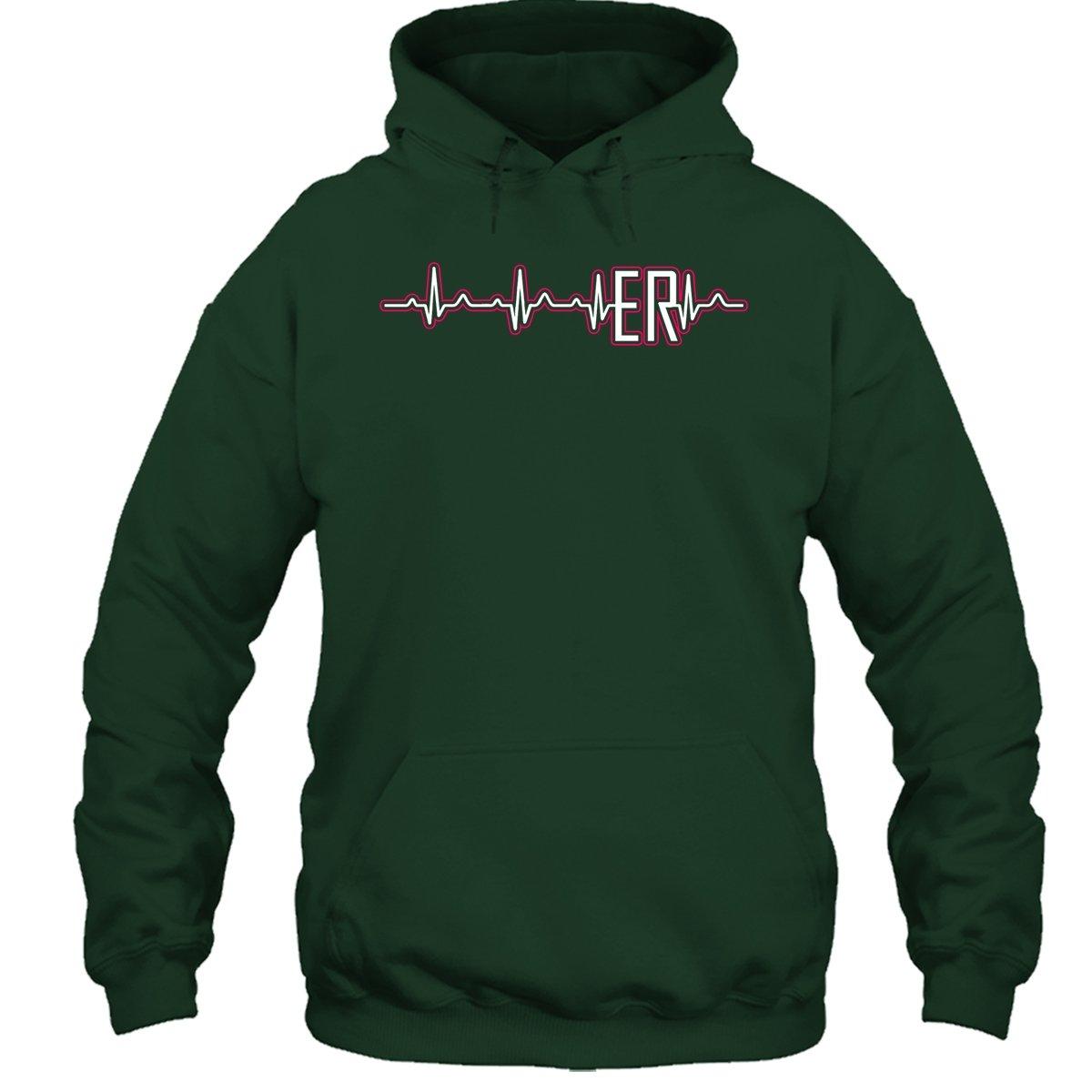 ER Nurse T-Shirt ER Nurse Heartbeat Tee Shirts for Someone Special