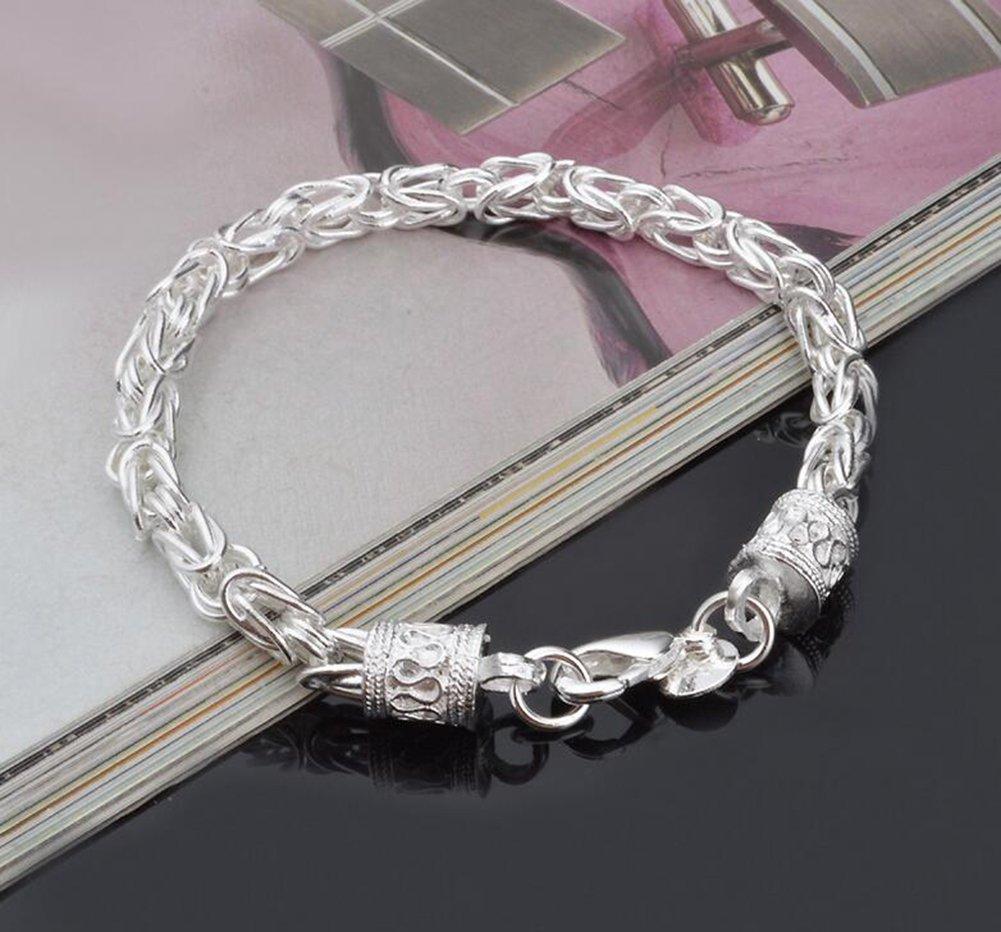 Hosaire Bracelet Femme Mode Mod/èle Cr/éatif Unisexe Bracelet Argent R/églable Cadeau Bracelet Bijoux