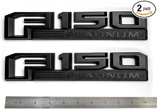 2pcs PLATINUM Emblem Side Badge Nameplate 3D Replacement for F150 F250 F350 Platinum