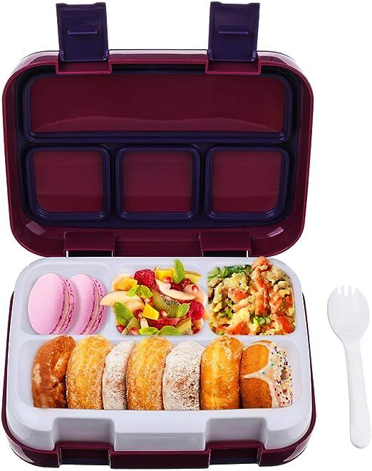 Fiambreras Bento, Bento Box para Niños, Caja de Almuerzo con 4 ...