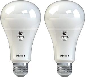 GE Lighting 42980 Refresh HD LED (75-Watt Replacement), 1100-Lumen A21 Bulb, Medium Base, Daylight, 2-Pack, Title 20 Compliant
