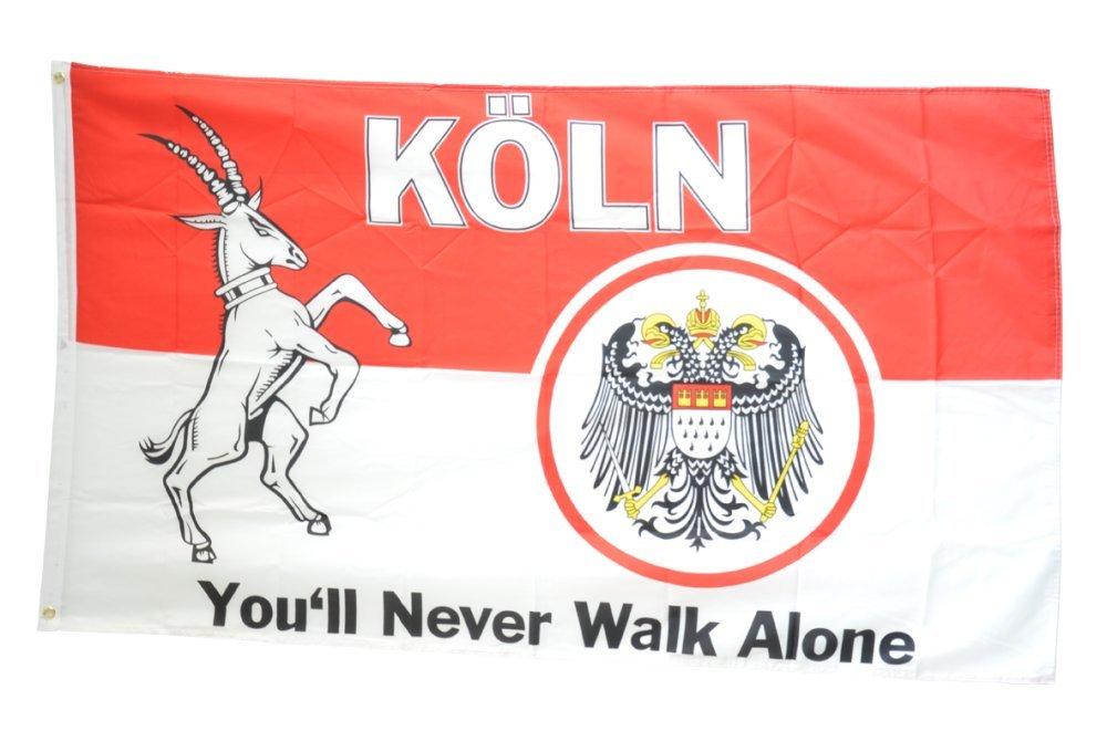 Fahne Flagge K/öln You/´ll never walk alone 90 x 150 cm