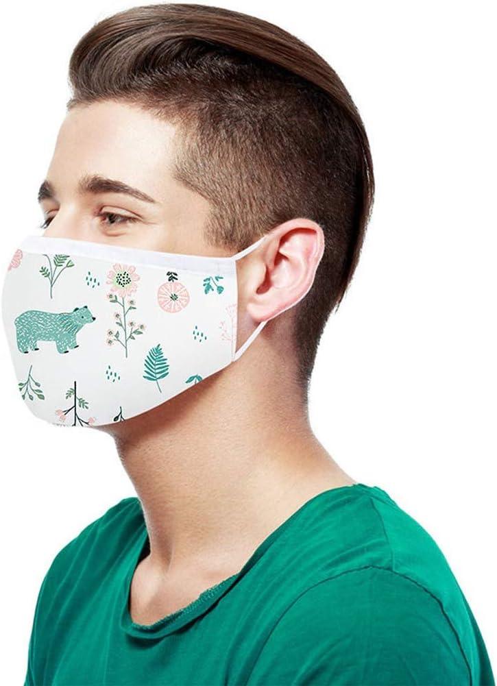 Reasoncool Aktivkohle Outdoor Waschbare Wiederverwendbare Gesichts Bandana Atmungsaktiv H/ängendes Ohr Sonnenschutz