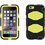 Griffin Black/Citron Survivor All-Terrain Case + Belt Clip for iPhone 6/6s 4.7 - Mil-spec tested, real-world proven protection