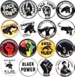 BLACK PANTHER PARTY 16 NEW 1 Inch (25mm) Set of 16 Pinback Buttons Badges Pins 1''