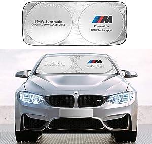 Car Windshield Sun Shade for BMW, Blocks UV Rays Foldable Sun Visor Protector for Most BMW