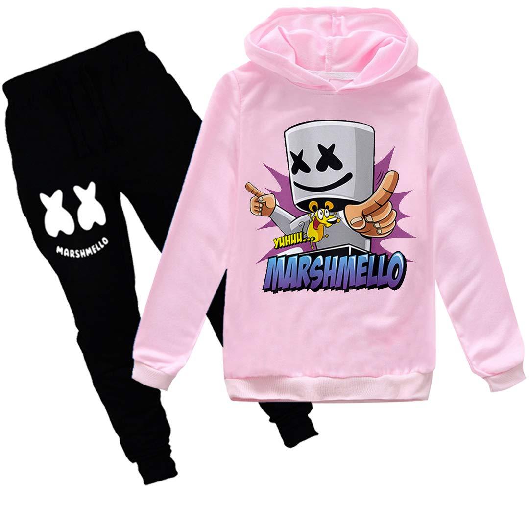 Silver Basic Boys DJ Clothing Set Girl Fashion Alone Sweatshirt Mask Smile Face Hoodie Sets