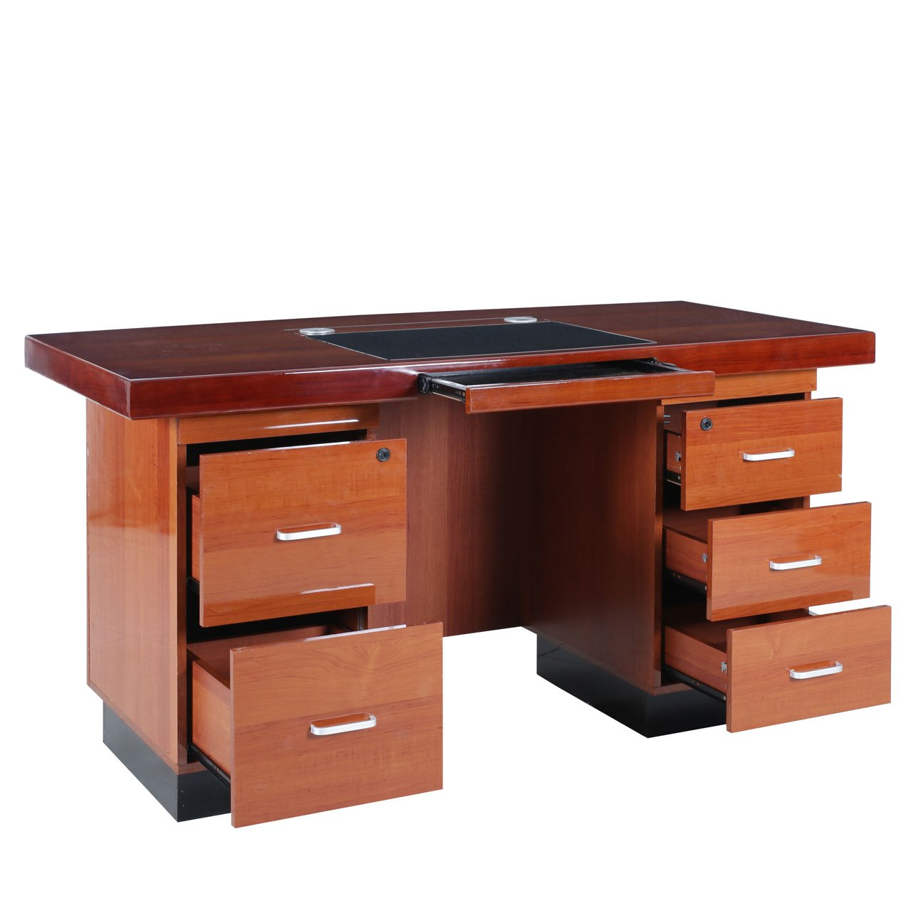 office table with drawers. This Beautiful Rosewood Finish Office Table With Drawers And MDF (medium Density Fibreboard) Is A Modern Style Table. It Looks Like Honey Brown Colour.