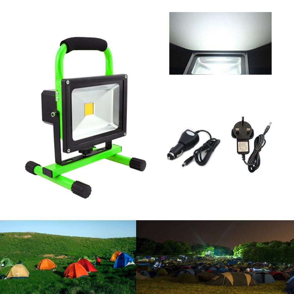 Hengda® 30W Cool White LED Rechargeable Work Light Portable Floodlight IP65 Emergency Camping Outdoor Fishing [Energy Class A++] huigou
