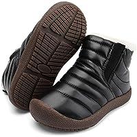 Zefani Kids Waterproof Snow Boots Winter Anti-Slip Fur Lined Warm Shoes Outdoor