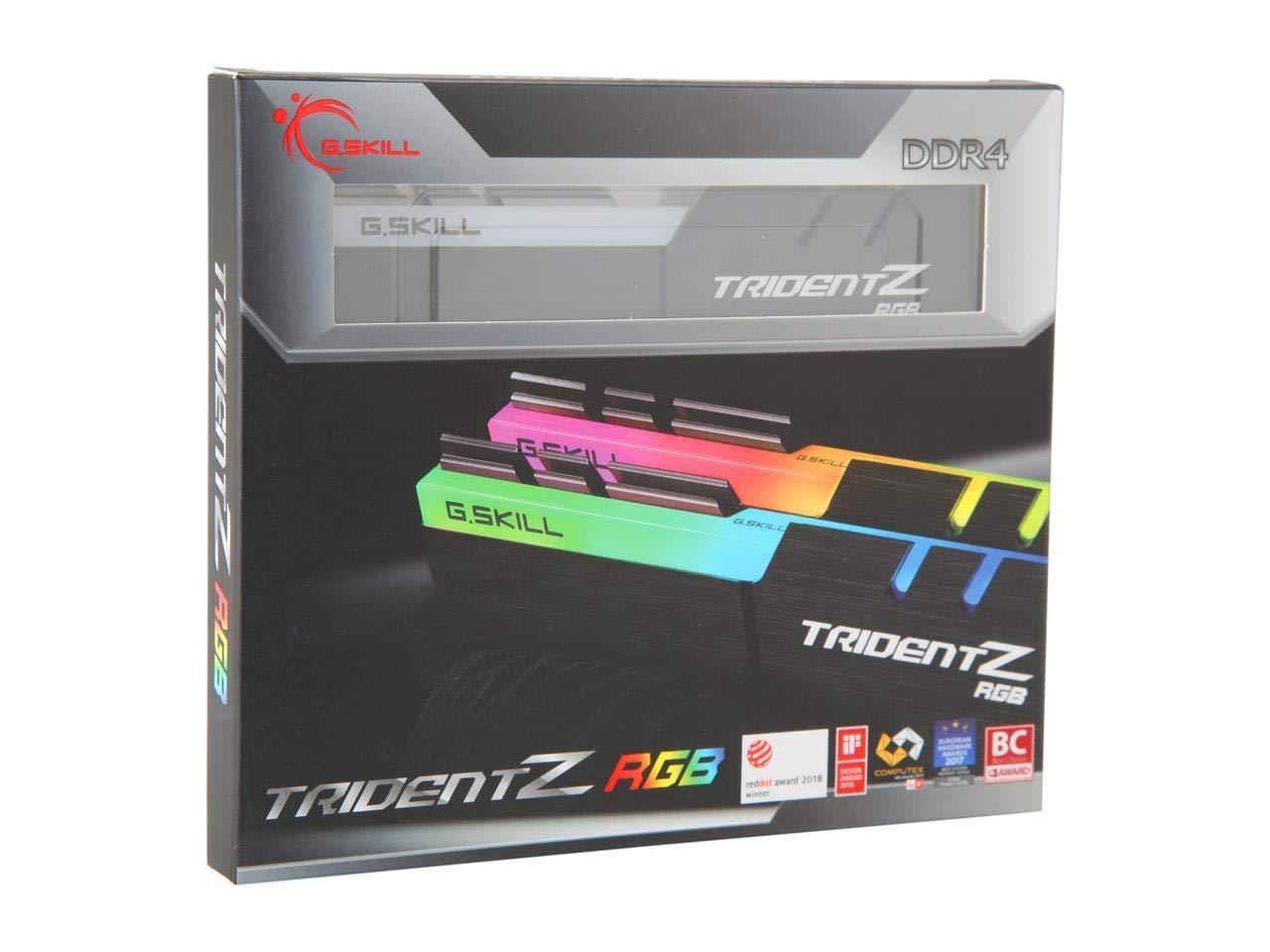 G.Skill TridentZ RGB Series 32GB (2 x 16GB) 288-Pin DDR4 SDRAM DDR4 3000 (PC4 24000) Desktop Memory F4-3000C16D-32GTZR