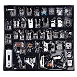 Professional Domestic 42Pcs Sewing Machine Presser Foot Feet Kit Set for Brother,Singer,Babylock,Janome,Elna,Toyota,New Home,Simplicity,Kenmore and White Low Shank Sewing Machines