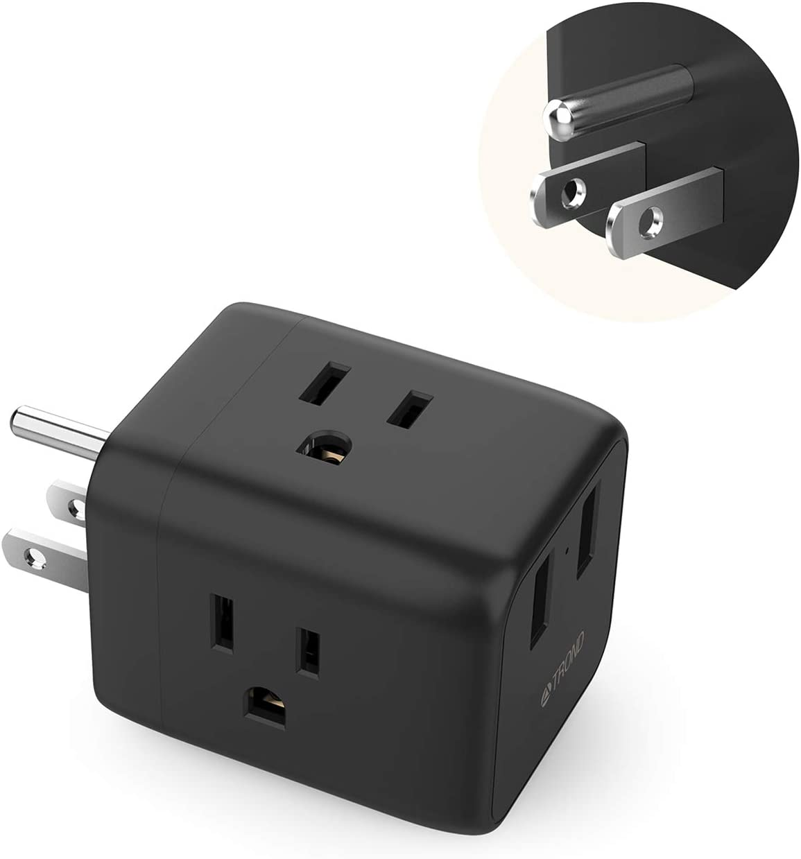 2x2 Smart USB Port Charger 3 Outlet Wall Adapter Socket AC Power Surge Protector