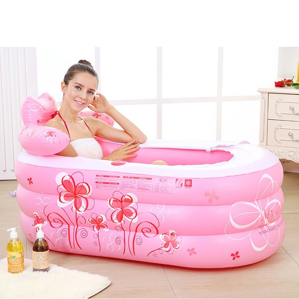 Bathtubs Freestanding Inflatable Thickened Adult Bath Fashionable Folding Bath tub Children's Collapsible Bubble Bath tub Relieve Fatigue by Bathtubs (Image #2)