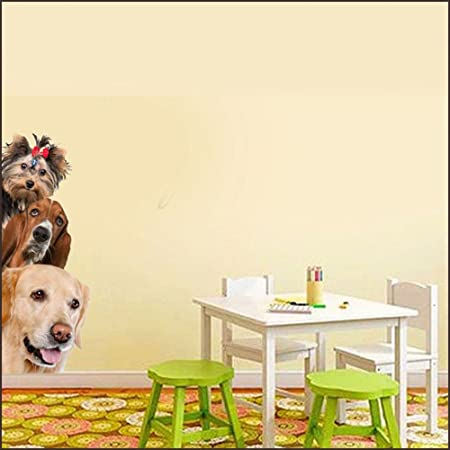 Dogs Cats 3D Wall Sticker Funny Door Window Wardrobe Fridge Decorations for Room