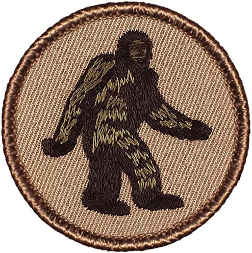 """Bigfoot Patrol Patch - 2"""" Diameter Round Embroidered Patch (Sew-on)"""