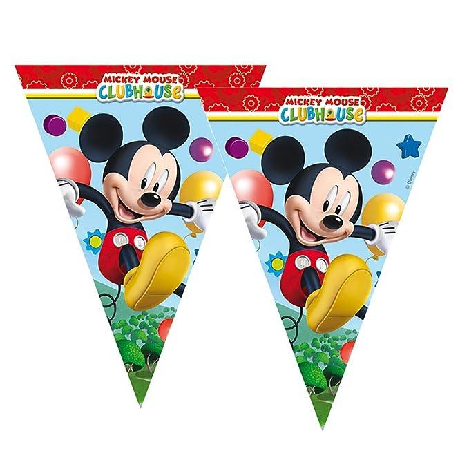 Mickey Mouse Cadena de Banderines | 2,30 m | Disney Fiesta ...
