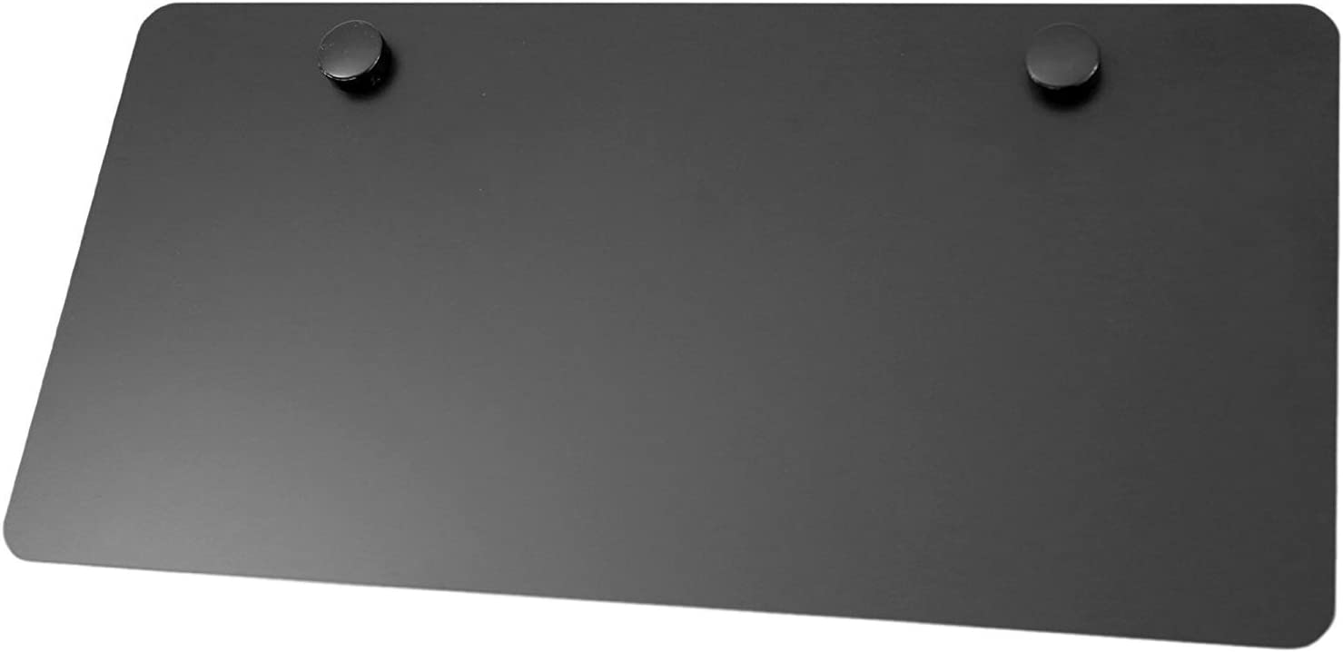 LFPartS Metal License Plate for Cars 2 Hole 12x6, Blank Black