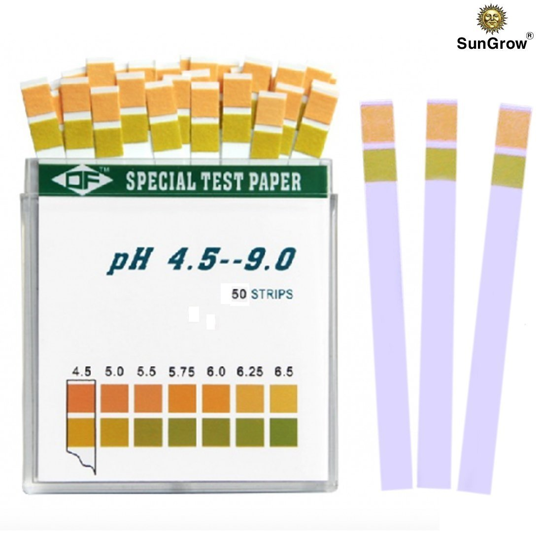 SunGrow Betta pH Test Strips - Just dip & read: Ensure Maximum comfort for fish & invertebrates: No complicated setup required