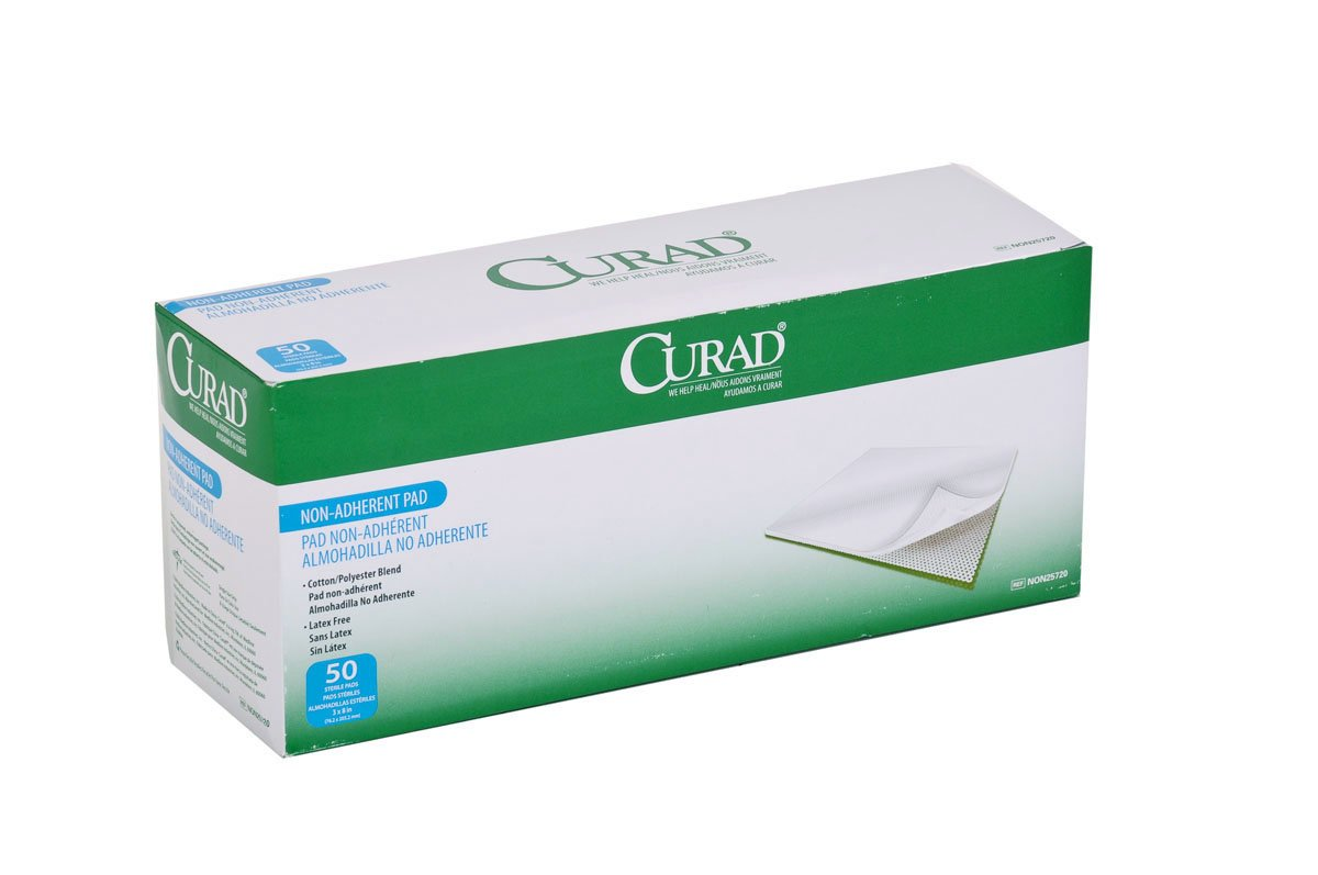 Curad Sterile Non-Adherent Pad, 3''x8'' (Pack of 600)