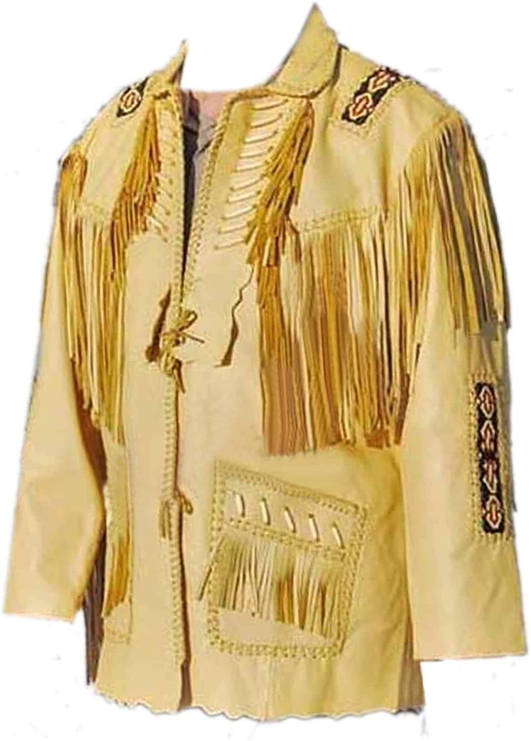 5XL Yellow LEATHERAY Mens Fashion Western Leather Jacket Suede Leather,XS