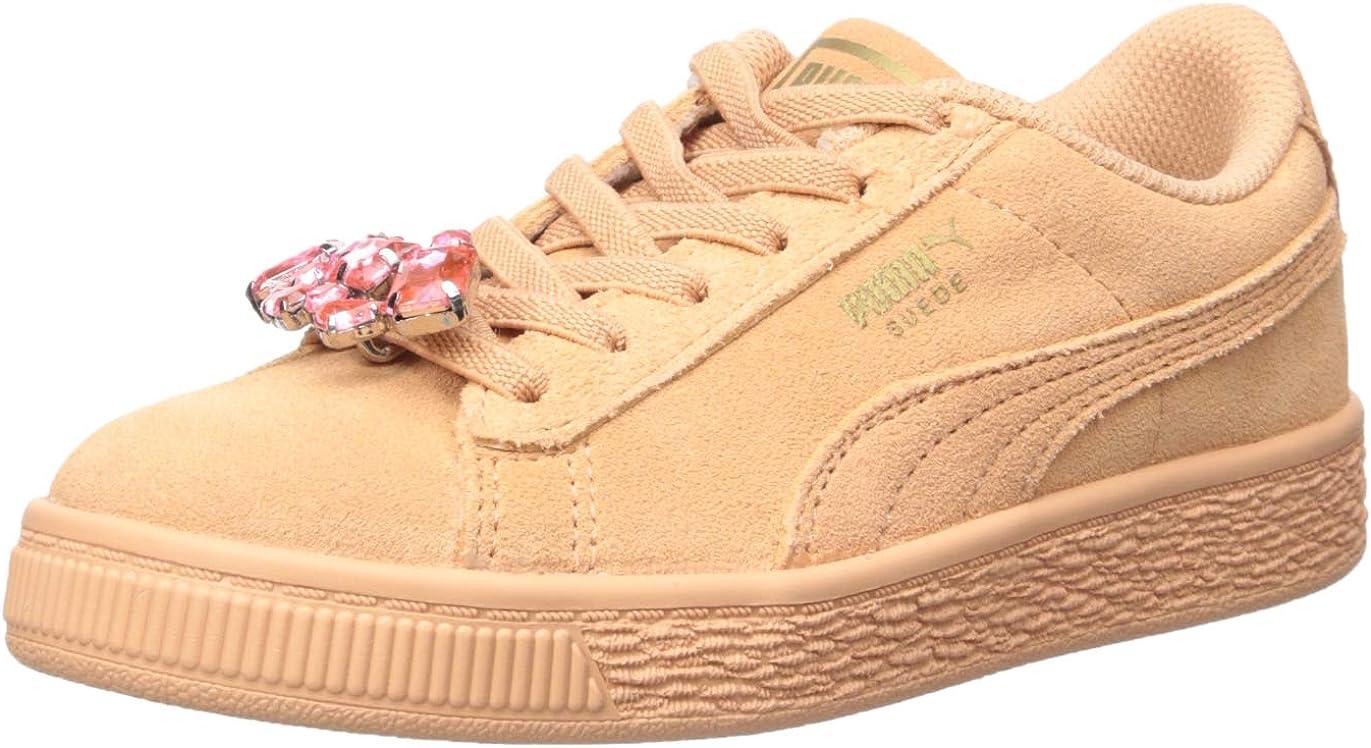 PUMA Unisex kids Suede Jewel Kids Sneaker