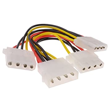 3 Wege 4 Polig PSU Strom Kabelverteiler Y-Adapter Kabel: Amazon.de ...