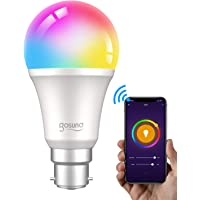 Smart LED Bulb, Gosund Alexa Light Bulbs 800Lm B22 75W Dimmable Wi-Fi RGB Color Changing LED Bulb Works with Alexa…