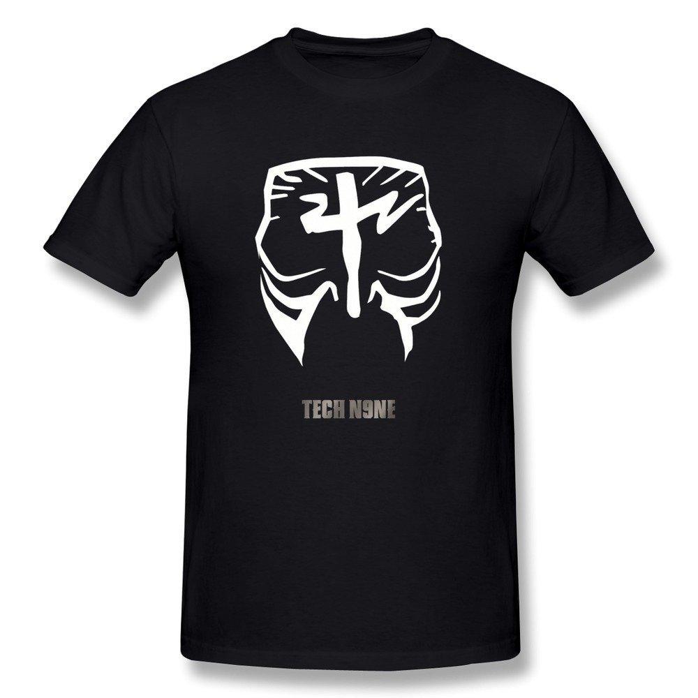 43f1602c Amazon.com: Fkyceun Men's Tech N9ne Face Paint Logo T-shirt X-Large Black:  Sports & Outdoors
