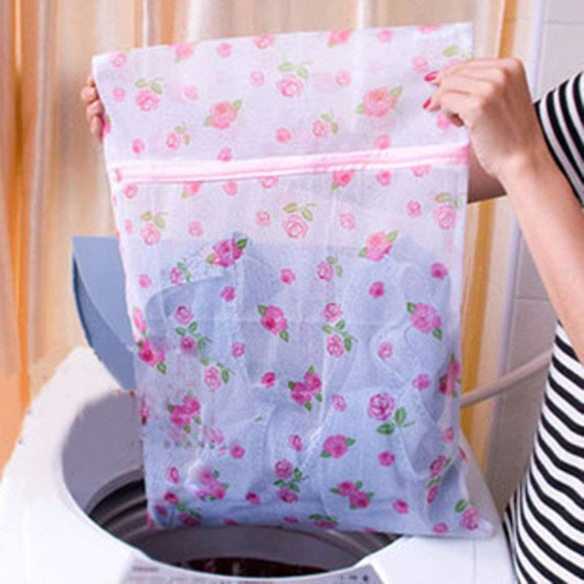 Portable Size Household Cleaning Tool Laundry Wash Bags Zipper Type Lingerie Bra Socks Underwear Mesh Bag Wash Care Bags
