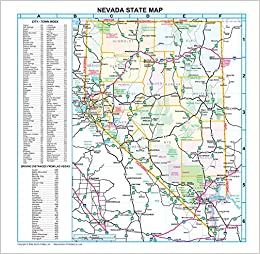 Nevada Counties and Roads Wall Map Gloss Laminated: Metro ...