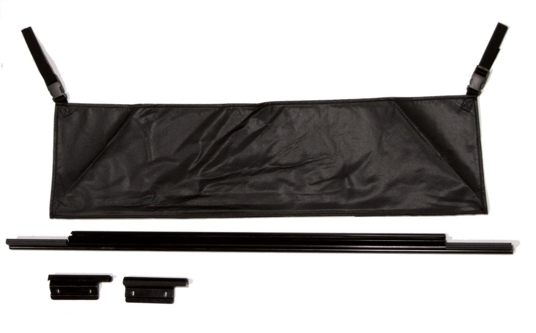 Black RAMPAGE PRODUCTS 77015 Rear Tailgate Tonneau Bar Kit for 1987-2006 Jeep Wrangler YJ /& TJ