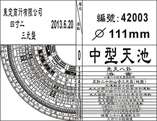 TonTing San Yuan Feng-shui Compass 12.8centimeter 東定4寸2三元風水羅盤