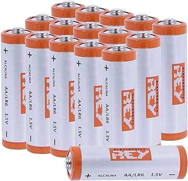 Pack de 16 Pilas Alcalinas AA LR6 1.5V, Alta Duración: Amazon.es ...