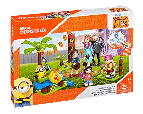 Mega Construx Despicable Me 3 Family Luau Party Building Set]()