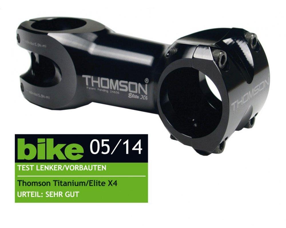 "A-Head Vorbau Thomson Elite X4 schwarz, 1-1 8"" x 10° x 130mm x 31, 8mm Lenkerkl."