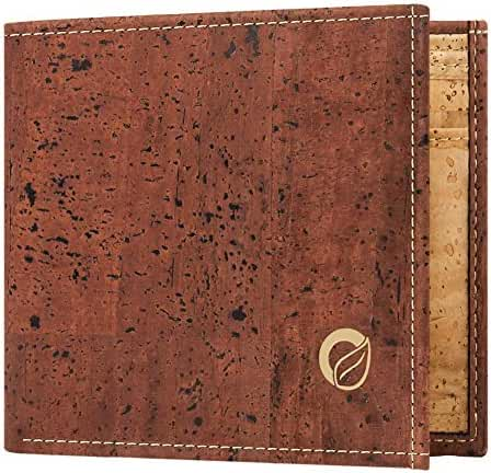 Corkor Cool Wallet for Men - Unique Vegan Gift - Cork