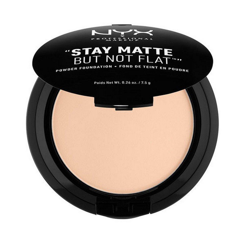 NYX PROFESSIONAL MAKEUP Stay Matte but not Flat Powder Foundation, Light Beige, 0.26 Ounce